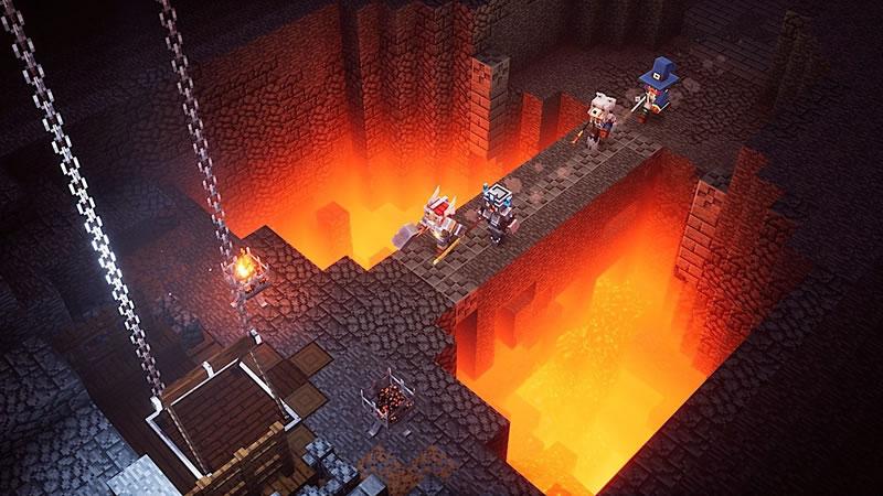 Minecraft Dungeons yazı görseli